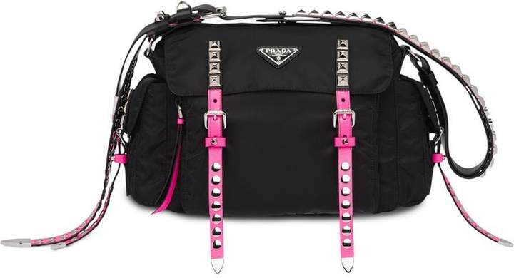 7af78ce49c1a Prada Studded Handbag - ShopStyle
