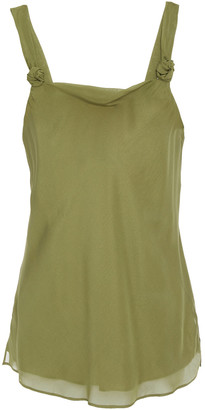 CAMI NYC The Nancy Knotted Silk Crepe De Chine Camisole