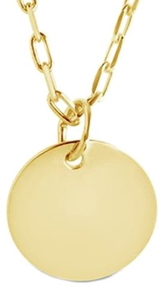 Sterling Forever 14K Over Silver Disc Charm Necklace