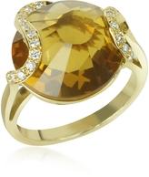 Tagliamonte Incanto Royale Citrine and Diamond 18K Gold Ring