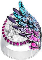 Swarovski Hearty Ring, Multi-colored, Palladium plating