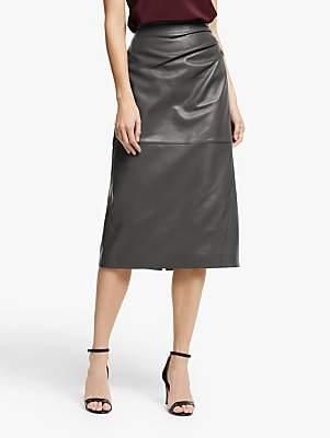 Modern Rarity Leather Skirt, Grey