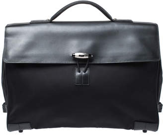 Montblanc Black Leather and Nylon Briefcase
