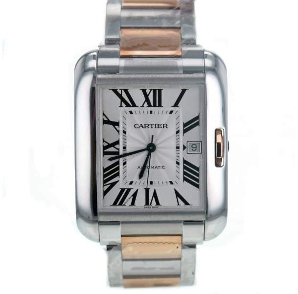 Cartier Tank Anglaise XL W5310006 Stainless Steel & Gold Automatic 47mm Men's Watch