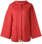 Fabiana Filippi Swing sleeve hooded jacket - women - Cotton/Hemp/Polyurethane - 44