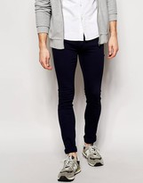 Dr Denim Jeans Kissy Low Spray On Extreme Super Skinny Navy