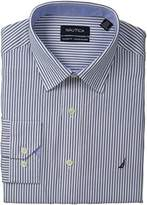 Nautica Men's Stripe Point Collar Dress Shirt