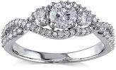 JCPenney MODERN BRIDE 1 CT. T.W. Diamond 14K White Gold 3-Stone Ring