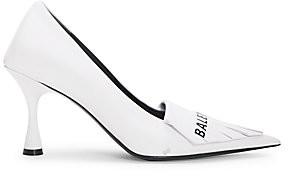 Balenciaga Women's Fringe Knife Point-Toe Stiletto Leather Pumps