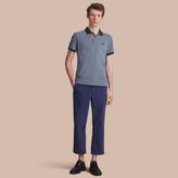 Burberry Two-tone Check Placket Cotton Piqué Polo Shirt