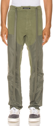 Fear Of God Nylon Canvas Double Front Work Pant in Army Green | FWRD