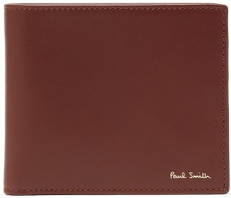 Paul Smith Signature-striped Leather Bi-fold Wallet - Mens - Brown