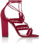 Aquazzura Women's Tulum Lace-Up Sandals-RED
