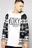 Boohoo Chunky Knitted Snowflake Hooded Jacket