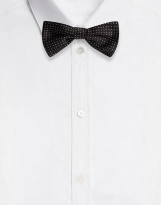 Dolce & Gabbana Polka-Dot Silk Jacquard Bow Tie