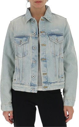 Off-White Bleached Effect Denim Jacket