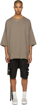Unravel Taupe Distressed Boxy T-shirt