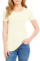 Daniel Cremieux Whitney Short Sleeve Stripe Knit
