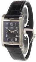 Oris 'Rectangular Date' analog watch