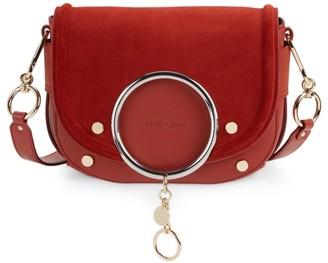 See by Chloe Mara Suede & Leather Crossbody Bag