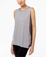 Calvin Klein Draped Embellished Top