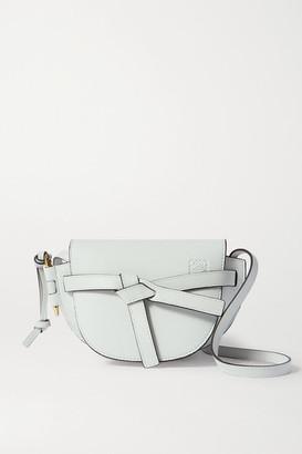 Loewe Gate Mini Textured-leather Shoulder Bag - White