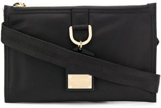 Dolce & Gabbana Logo Plaque Keyring Crossbody Bag