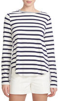 1 State Long-Sleeve Mixed Stripe Knit Top