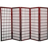 Oriental Furniture 4-Feet Window Pane Japanese Shoji Privacy Screen Room Divider