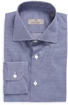 Canali Men's Trim Fit Check Dress Shirt