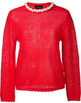 Simone Rocha pearl embellished collar sweater