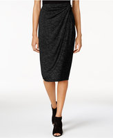 Bar III Draped Faux-Wrap Skirt, Only at Macy's