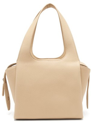 The Row Tr1 Folded Leather Bag - Womens - Beige