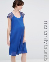 Mama Licious Mama.licious Mamalicious Lace Detail Swing Dress