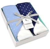 Just Born Sparkle Navy 2- Pack Hooded Towel Set