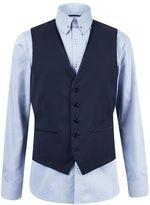 Burton Burton Skinny Fit Purple Jacquard Waistcoat