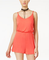 Ultra Flirt Juniors' Braided-Strap Romper