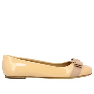 Salvatore Ferragamo Ballet Flats Varina Ballet Flats In Patent Leather