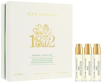 Clive Christian Unisex 3Pc 1872 Feminine Travel Refills