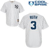 Majestic Babe Ruth New York Yankees MLB Men's Cool Base Cooperstown Collection Pinstripe Jersey (3XL)
