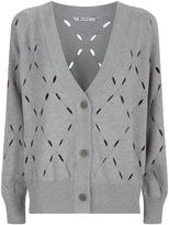 Alexander Wang Cut-Out V-Neck Cardigan