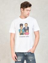 HOMBRE Nino White Family Print S/S T-shirt