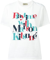 MAISON KITSUNÉ slogan logo T-shirt - women - Cotton - M