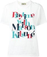 MAISON KITSUNÉ slogan logo T-shirt - women - Cotton - S