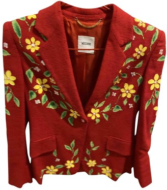 Moschino Red Tweed Jackets