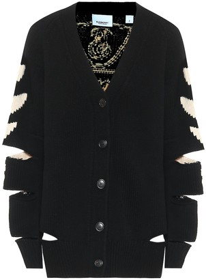 Burberry Merino wool and cashmere cardigan