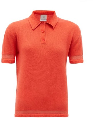 Barrie Cashmere-blend Terry Polo Shirt - Orange
