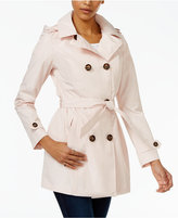 Celebrity Pink Double-Breasted Trench Coat