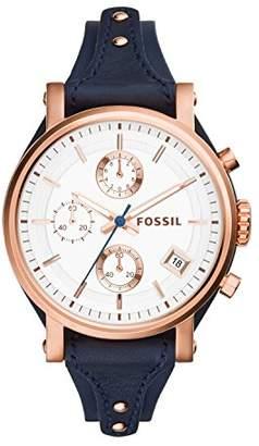 Fossil Women's Original Boyfriend Quartz Stainless Steel and Leather Chronograph Watch