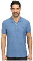 Lacoste Jersey Polo with Tonal Wide Spaced H'Bone Stripe